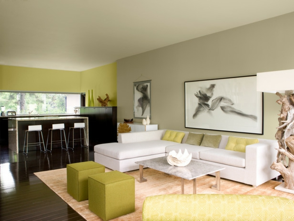 Wandfarben Wohnzimmer Streifen: Wohnzimmer makeover mit wandfarbe ...