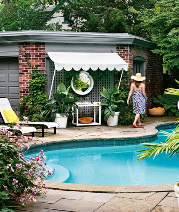coole garderobe am garten pool markise großartig schützend
