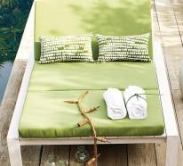 Frische coole Garten Dekoration im Sommer – Genießen Sie die Sonnenstrahlen
