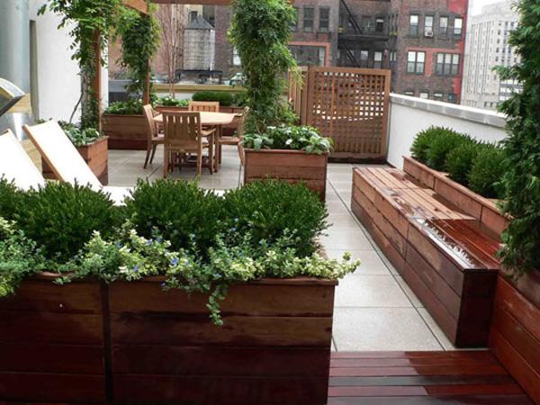 coole gartengestaltung idee gr ne oase auf der dachterrasse. Black Bedroom Furniture Sets. Home Design Ideas
