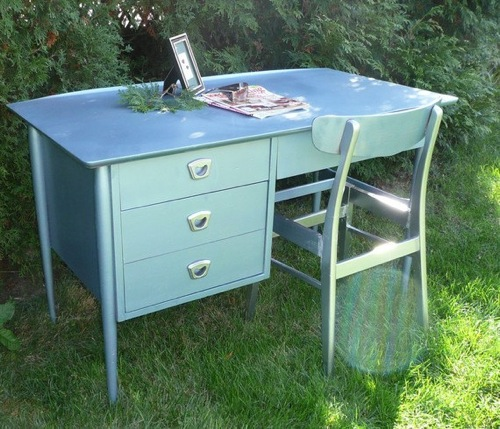 coole handbemalte möbel designs modern schreibtisch poppy cottage studio
