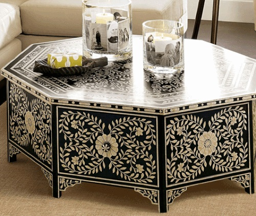 schöne handbemalte möbel designs tisch de santis