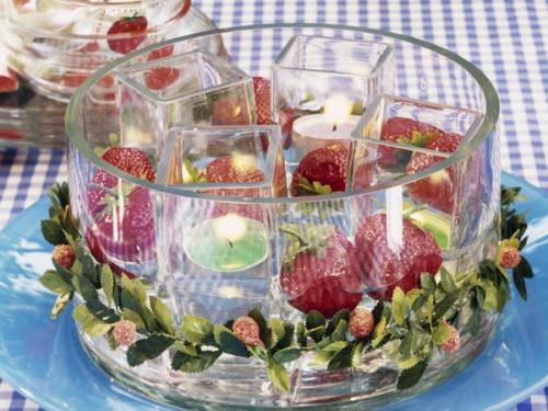 coole kerzen ideen sommer erdbeere glas blickpunkt