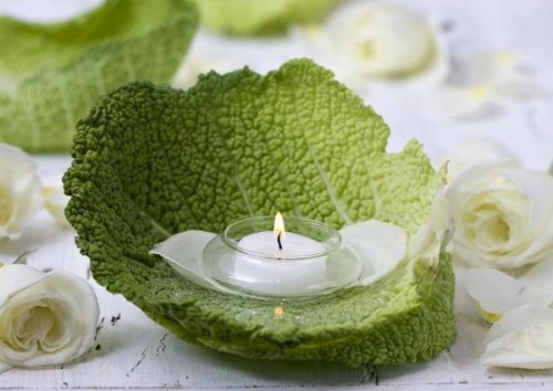 coole kerzen ideen sommer glas grün laub