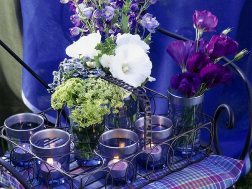coole kerzen ideen sommer lila frisch aromatisch blumen