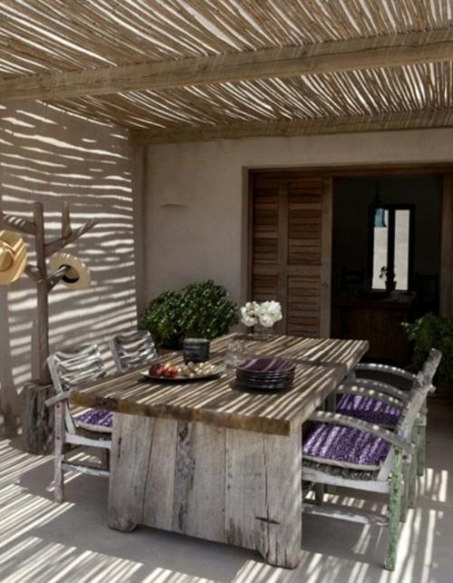 coole moderne gartenmöbel designs bambus holz tisch