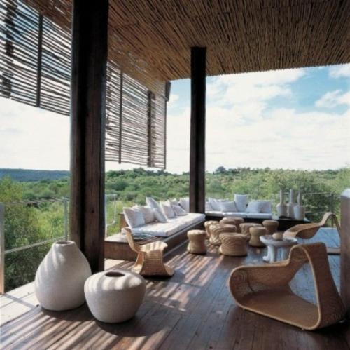 Coole, moderne Gartenmöbel Designs bambus sonnenschutz