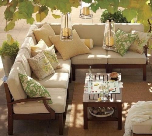 coole moderne gartenmöbel designs beige braun holz