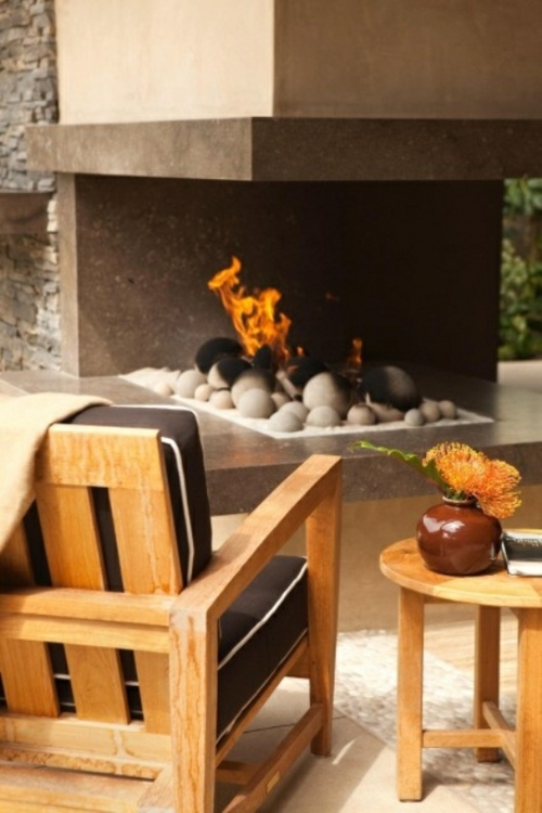 Coole, moderne Gartenmöbel Designs feuerstelle holz stuhl