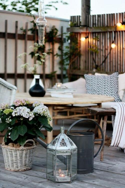 Coole, moderne Gartenmöbel Designs gießkanne grau