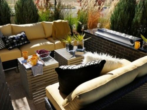 coole moderne gartenmöbel designs leder sofa