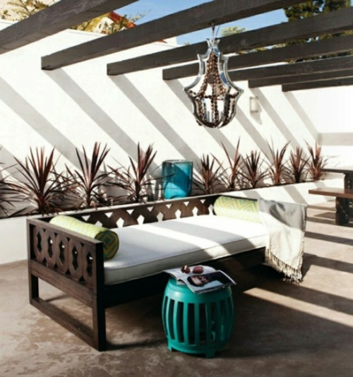 Coole, moderne Gartenmöbel Designs niedrig sofa holz