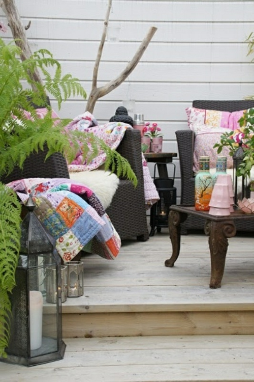 Coole, moderne Gartenmöbel Designs rattan sessel decke