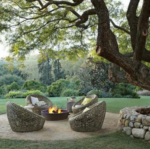 Coole, moderne Gartenmöbel Designs rattan stuhl feuerstelle