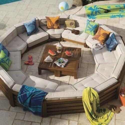 Coole, moderne Gartenmöbel Designs sofa rund groß tisch