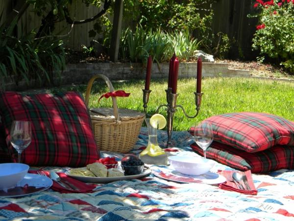 tolle picknick ideen familie interessant kerzen vorbereitung