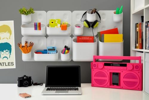 coole praktische deko ideen urbio büro wand