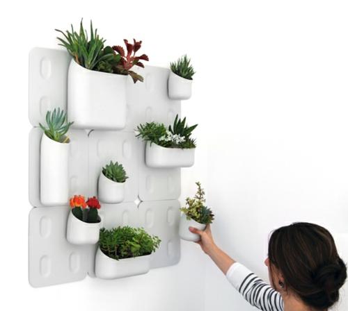 coole praktische deko ideen urbio wanddeko pflanzgefäße
