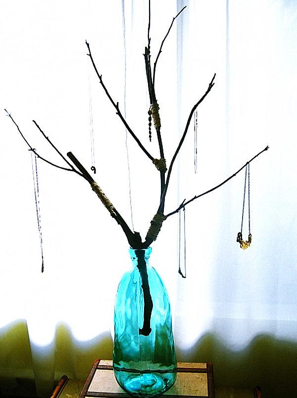 coole Schmuckaufbewahrung Ideen stilvoll blickpunkt vase glas