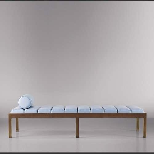 schöne sofa design ideen schlicht blau auflage holz
