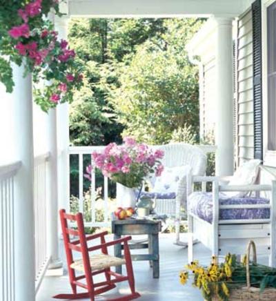coole veranda designs leicht blumen