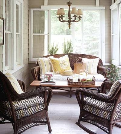 coole veranda designs leicht rattan braun weiß