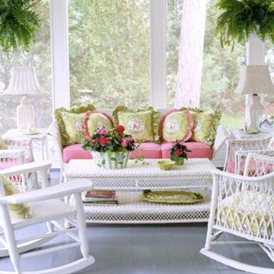 coole veranda designs leicht streifen kissen muster