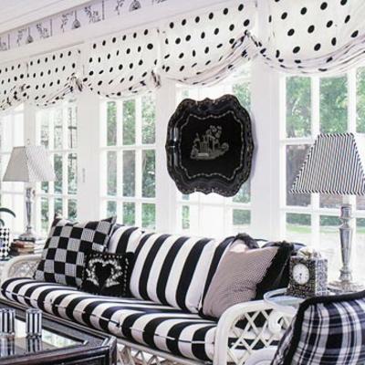 coole veranda designs leicht streifen schwarz weiß