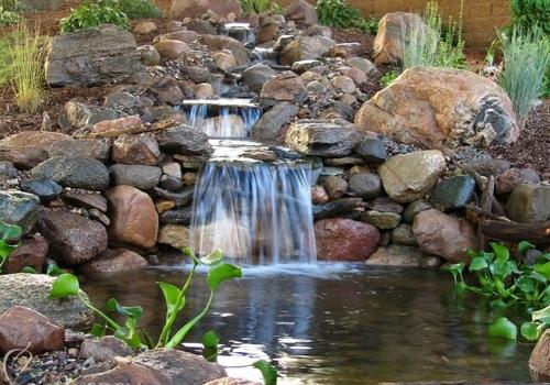 schöne wassergarten ideen koi teich hinterhof