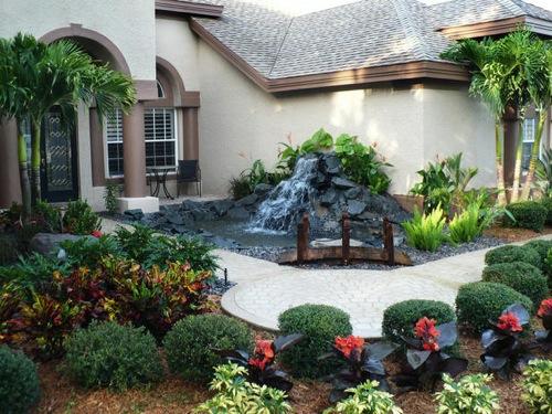 gartengestaltung mit wasserfall – siteminsk, Gartenarbeit ideen