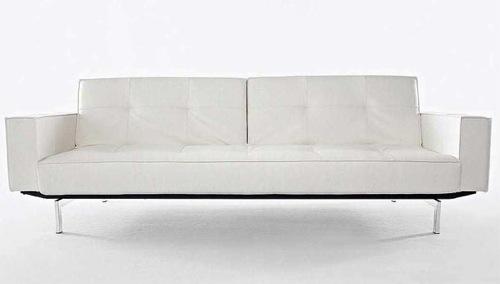 coole weiße sofa designs niedrig elegant bequem auffallend