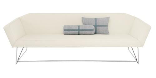 coole weiße sofa designs niedrig elegant bequem ergonomisch