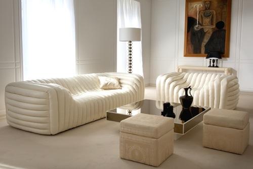 coole weiße sofa designs niedrig elegant bequem versace home