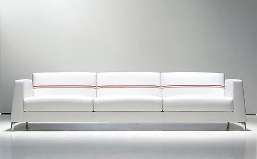 coole weiße sofa designs niedrig elegant glanzvoll calibra