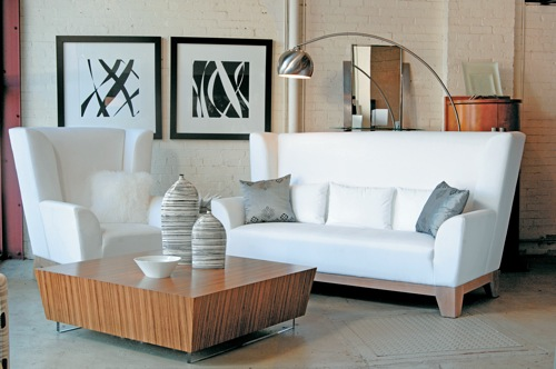 coole weiße sofa designs niedrig elegant glanzvoll hohe rücklehne