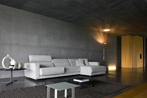 coole weiße sofa designs niedrig elegant raffniert groß