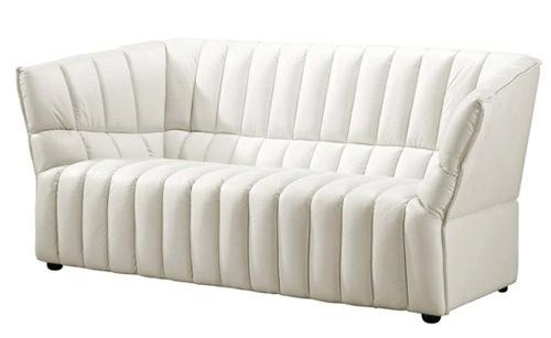 moderne weiße sofa designs niedrig elegant zwei personen leder