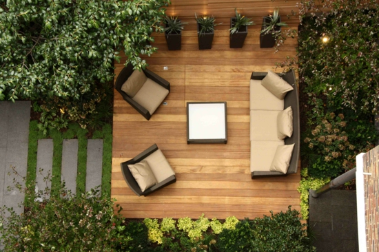 Garten gestalten mit holz  Schicken, coolen Garten gestalten - Neugestaltung vom Beton Parkplatz