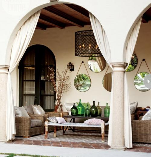 coolen wohnraum im garten gestalten kalifornisch stil