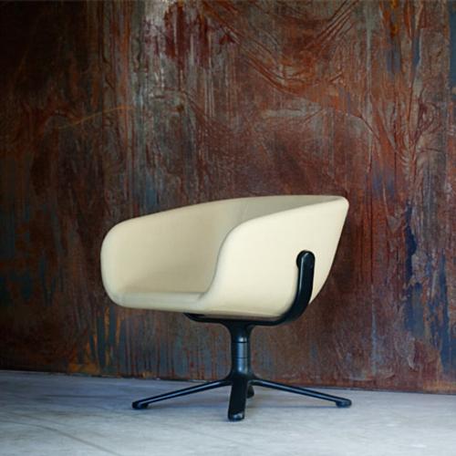 cooles büro stuhl design freistehend beige polsterung