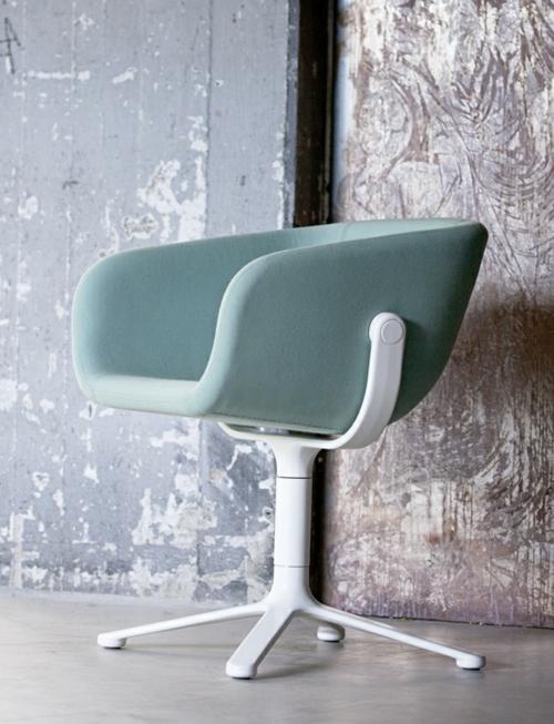 cooles büro stuhl design freistehend hell blau