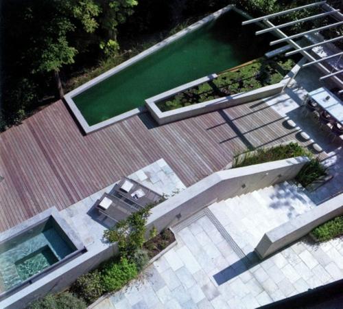 designer dachterrasse einrichtung cool pool holzdeck