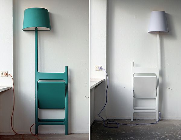 designer lampe und stuhl in einem kombiniert idee von nieuwe heren. Black Bedroom Furniture Sets. Home Design Ideas