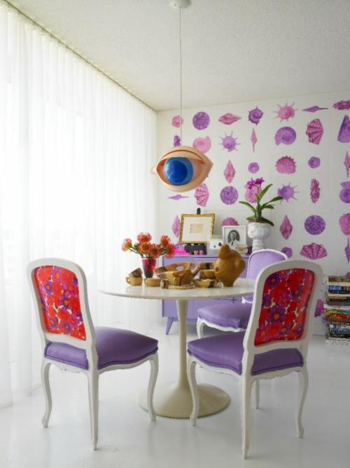 eleganteesszimmer design ideen klassisch weiblich pastellfarben