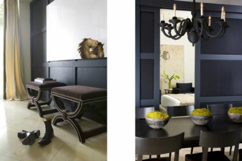 elegante esszimmer designs idee attraktiv farben texturen