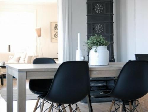 elegante esszimmer designs idee glanzvoll oberfläche acryl