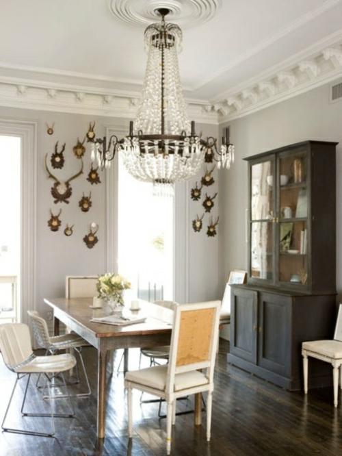 elegante esszimmer designs idee hell gemütlich klassisch