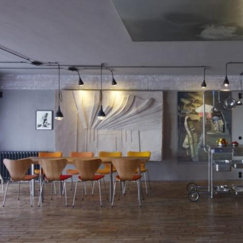 elegante esszimmer designs idee industriell stil