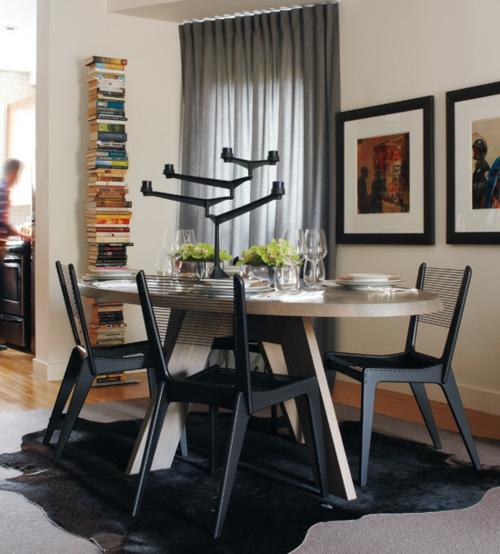 elegante esszimmer designs idee schwarz stuhl tisch holz
