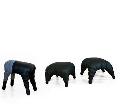erstaunliche leder stuhl kollektion gruppe schwarz farbe